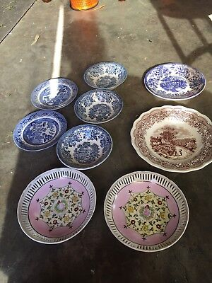 Vintage Ceramic Bowls And Plates