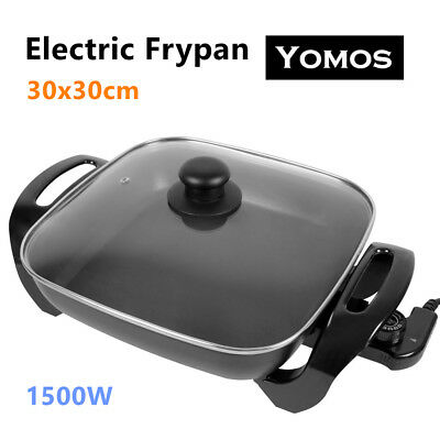 30CM Electric Banquet Frypan 30x30 Non-Stick Adjustable temperature control Pan