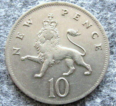 MINT ERROR - GREAT BRITAIN 1976 10 NEW PENCE - THIN PLANCHET, WEIGHT 8g