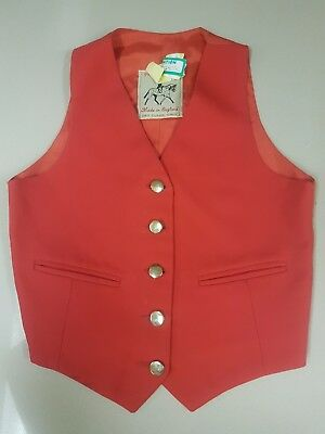 Pretty Ponies (made in UK) - size 7-8 kids - red vest