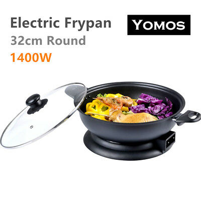 32cm Round Electric Banquet Frypan Non-Stick Adjustable temperature control Pan