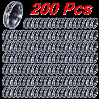 200pcs Coin Collection Capsules Boxes Coins Clear Holders 18mm-100mm  Containers
