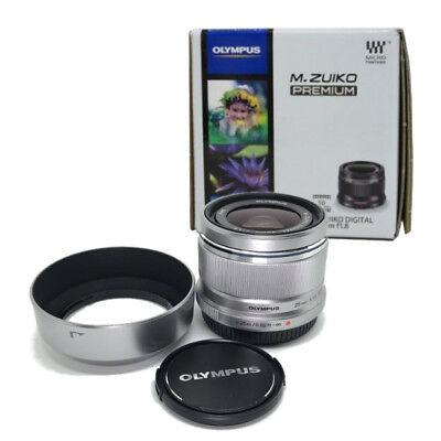 Olympus M.ZUIKO DIGITAL 25mm F1.8 Silver Lens Micro Four Thirds from Japan New