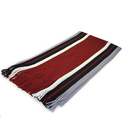 New Classic Cashmere Shawl Winter Warm Men's Fringe Striped Tassel Long Scarf 09