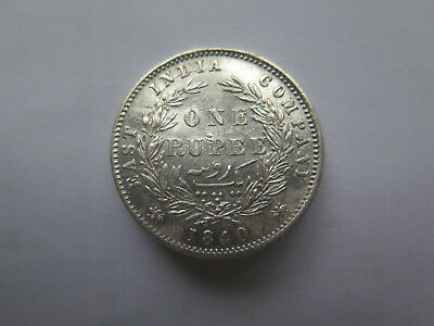 1840 EAST INDIA COMPANY QUEEN VICTORIA SILVER RUPEE in EXCELLENT CONDITION
