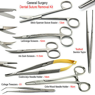 Tissue Surgical Scissors Suture TC Needle Holders Small Animal Surgery Kit