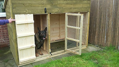 dog kennel and run 8 x 4 x 5'6'' H