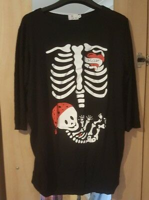 ladies Halloween maternity top....worn once exc cond size 14/16