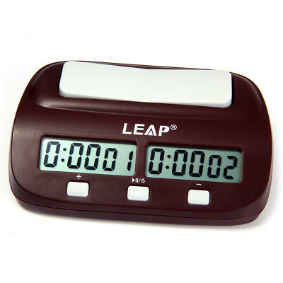 LEAP PQ9907S Digital Chess Clock I-go Count Up Down Timer Electronic Board Game