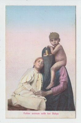NATIVE WOMAN WITH HER BABYS (sic)