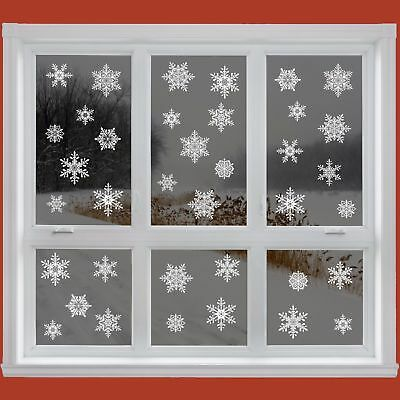 38 Elegant Snowflake Window Clings Reusable Stickers Christmas Decorations Decal