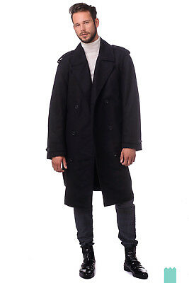 DIESEL Size L Men's W-AVGI 0SAJB Wool Blend Double Breasted Belted Coat