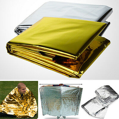 Waterproof Foil Blankets LIFE Emergency Survival Rescue Tent Thermal First Aid N