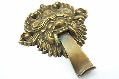 Barong Mask Indonesia Bali Door Knocker Vintage Antique Tattoo Solid Brass