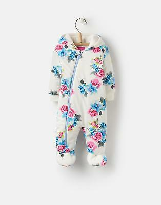 Joules 124533 Baby Girls Pramsuit in Cream floral