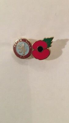 Aston Villa Old Crest Poppy Badge