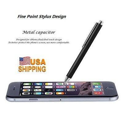 USPS!Fine Point Touch Drawing Stylus Pen Capacitive Touch Screen Pen Thin -Black