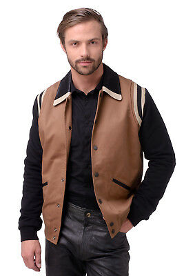 RRP €370 DIESEL Size L Men's J-TOKU Contrast Jacket With Genuine Leather