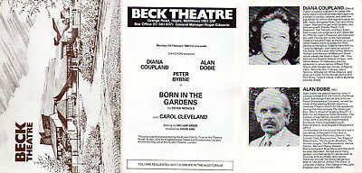 "Alan Dobie Diana Coupland Peter Byrne Beck Theatre 1983 ""Born in the Gardens"""