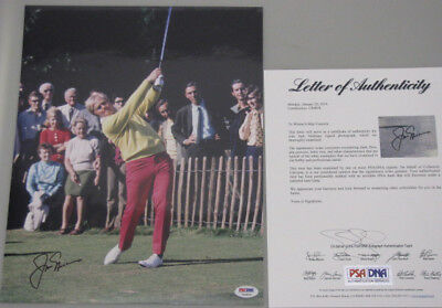 JACK NICKLAUS Hand Signed 11'x14' Photo + PSA DNA COA * BUY GENUINE *