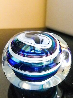 Selkirk Vintage Glass Paperweight - Original Label on the Base Made in Scotland