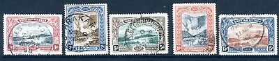 BRITISH GUIANA-1898 Jubilee set Sg 216-221 FINE USED V19503