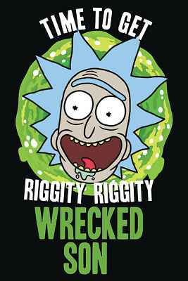 Rick And Morty Wrecked Son 91.5 X 61 Cm Maxi  Poster New Official Merch