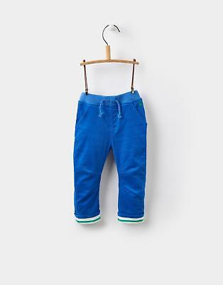 Joules Baby Boys Joe Trousers with Elasticated Waistband in Ocean Blue