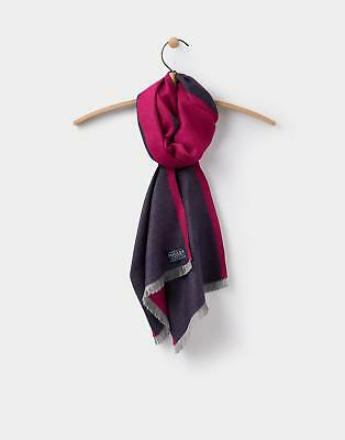 Joules Luxton Colour Block Scarf in FRENCH NAVY in One Size