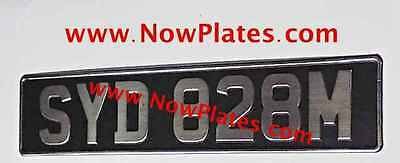 1 Only Brushed Chrome Pressed Number Plate