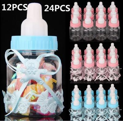 24 Pcs Fillable Bottles Candy Box Baby Shower Baptism Party Favour