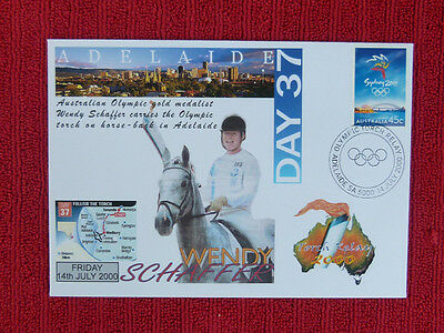 Souvenir Sydney Olympics Torch Relay Cover - Day 37, Adelaide, Wendy Schaffer