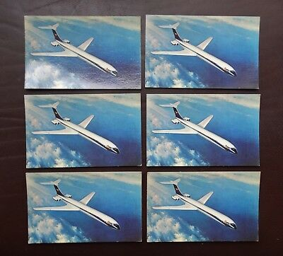6 of Vintage RP Postcard showing  BOAC Airways VC-10 Aircraft