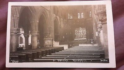 Old postcard of the Interior, St Peter's Church, Vauxhall, London - Johns 3454