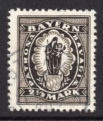 Bayern (Bavaria) 2 1/2 Mark Lithographed Stamp c1920 Fine Used (A)