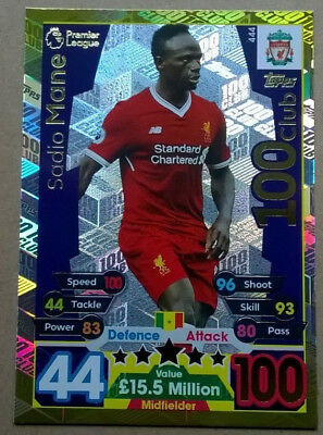 17 18 Match Attax Mane Liverpool  Hundred Club Card 100 Topps 2017/2018 444 Lfc