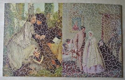Vintage Wooden Jig Saw Puzzle Shapes 2 in 1 Wedding Pictures The Ring 466 pieces