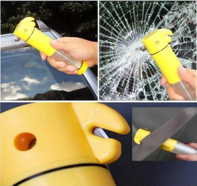 5 Way Emergency Tool: Window Spike Flashing Beacon Torch Light Seat Belt Cutter