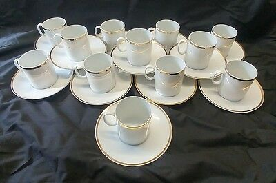 THOMAS GERMANY - Porcelain China - Gold Rim - Coffee Cups & Saucers