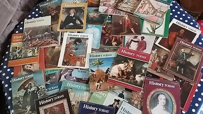 42 copies of History Today from 1971 to 1975. Lovely vintage magazines.