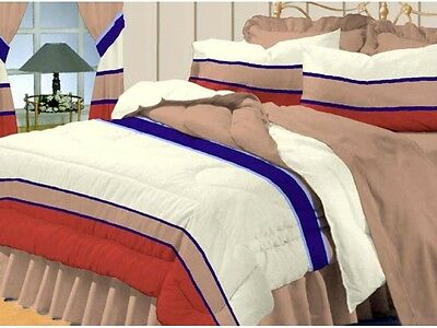 Polycotton Percale Terracotta Double Quilt Doona Cover Duvet +2 Pillow Cases
