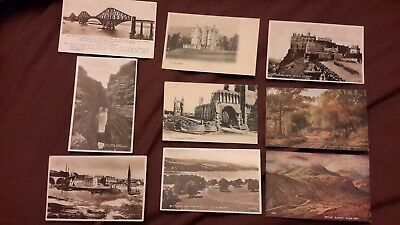 9 x Old postcards of Scotland published by Valentine's - Largo, Thurso, Balloch,