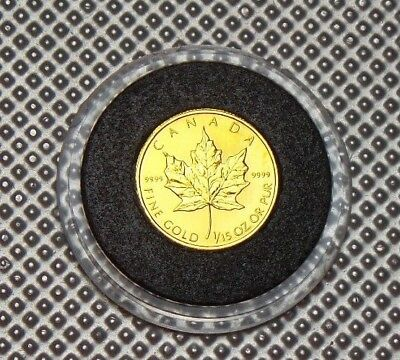 1994 Canada 24 Carat Gold 2 Dollars 1/15 Oz Low Mintage Rare Coin