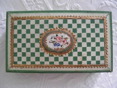 Beautiful & unusual Regency19thc paper covered Sewing Box c1820's