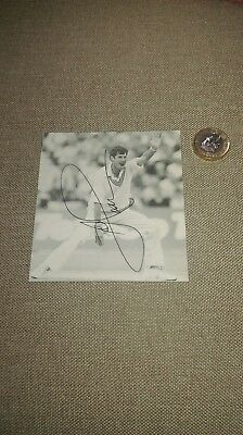 Richard Hadlee SIGNED photo (from book) New Zealand Cricket Legend