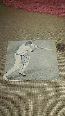 Glenn Turner SIGNED photo (from book) New Zealand Cricket Legend