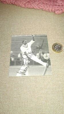 Winston Benjamin SIGNED photo (from book) West Indies Cricket