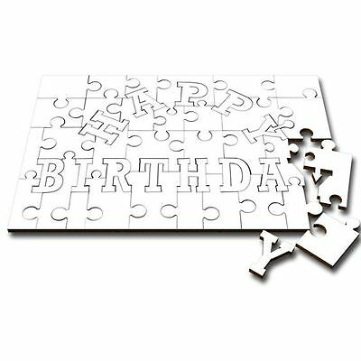 Create your own design on this HAPPY BIRTHDAY wood jigsaw puzzle