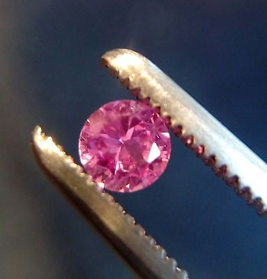 3 mm Round Cut Pink Lab Created Sapphire Loose Gemstone. Lot of 10 Stones
