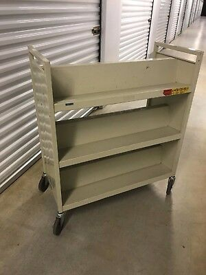 Bretford Book Truck Library Cart, 6 Sloping Shelves Heavy Duty Pick-up only.